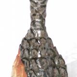 Arabica - vaselignende objekt med hjerteformet fod, højde 19 cm