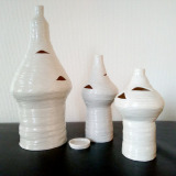 Tre NILEN porcelæns beholdere