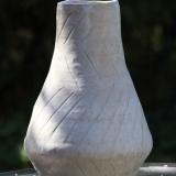 Gulvvase, beige, højde 35 cm